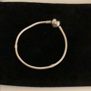 Authentic Pandora Heart clasp Moments Bracelet